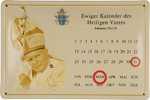 26472 Blechschild Sakral Kalender Johannes Paul II (30x20cm) Nitsche