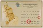 26473 Blechschild Sakral Calendarium Johannes Paul II (30x20cm) Nitsche