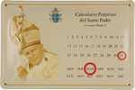 26474 Blechschild Sakral Calendario Johannes Paul II (30x20cm) Nitsche