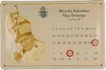 26475 Blechschild Sakral Kalendarz Johannes Paul II (30x20cm) Nitsche