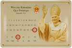 26479 Blechschild Sakral Kalendarz Benedikt XVI (30x20cm) Nitsche